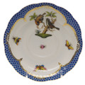 Herend Rothschild Bird Borders Blue Tea Saucer No.12 6 in RO-EB-00734-1-12