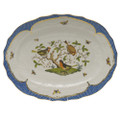 Herend Rothschild Bird Borders Blue Oval Platter 17 in RO-EB-01101-0-00