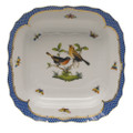 Herend Rothschild Bird Borders Blue Square Fruit Dish 11 in RO-EB-01181-0-00