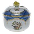 Herend Rothschild Bird Borders Blue Sugar Bowl RO-EB-01463-0-09
