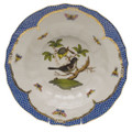 Herend Rothschild Bird Borders Blue Rim Soup No. 1 9.5 in RO-EB-01503-0-01
