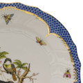 Herend Rothschild Bird Borders Blue Rim Soup No. 8 9.5 in RO-EB-01503-0-08