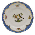 Herend Rothschild Bird Borders Blue Bread and Butter Plate No. 7 6 in RO-EB-01515-0-07
