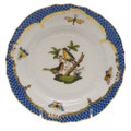 Herend Rothschild Bird Borders Blue Bread and Butter Plate No. 8 6 in RO-EB-01515-0-08