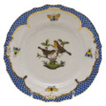 Herend Rothschild Bird Borders Blue Bread and Butter Plate No. 9 6 in RO-EB-01515-0-09