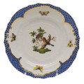 Herend Rothschild Bird Borders Blue Bread and Butter Plate No. 10 6 in RO-EB-01515-0-10