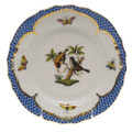 Herend Rothschild Bird Borders Blue Bread and Butter Plate No. 12 6 in RO-EB-01515-0-12