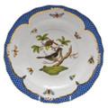 Herend Rothschild Bird Borders Blue Dessert Plate No.1 8.25 in RO-EB-01520-0-01