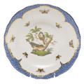 Herend Rothschild Bird Borders Blue Dessert Plate No.2 8.25 in RO-EB-01520-0-02