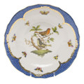 Herend Rothschild Bird Borders Blue Dessert Plate No.3 8.25 in RO-EB-01520-0-03