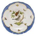 Herend Rothschild Bird Borders Blue Dessert Plate No.4 8.25 in RO-EB-01520-0-04