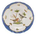 Herend Rothschild Bird Borders Blue Dessert Plate No.5 8.25 in RO-EB-01520-0-05