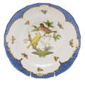 Herend Rothschild Bird Borders Blue Dessert Plate No.6 8.25 in RO-EB-01520-0-06