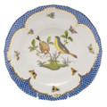 Herend Rothschild Bird Borders Blue Dessert Plate No.7 8.25 in RO-EB-01520-0-07
