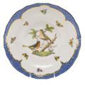 Herend Rothschild Bird Borders Blue Dessert Plate No.8 8.25 in RO-EB-01520-0-08