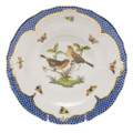 Herend Rothschild Bird Borders Blue Dessert Plate No.9 8.25 in RO-EB-01520-0-09