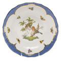 Herend Rothschild Bird Borders Blue Dessert Plate No.10 8.25 in RO-EB-01520-0-10