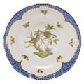 Herend Rothschild Bird Borders Blue Dessert Plate No.11 8.25 in RO-EB-01520-0-11