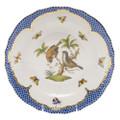Herend Rothschild Bird Borders Blue Dessert Plate No.12 8.25 in RO-EB-01520-0-12
