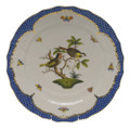 Herend Rothschild Bird Borders Blue Service Plate No.11 11 in RO-EB-01527-0-11