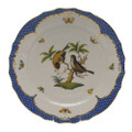 Herend Rothschild Bird Borders Blue Service Plate No.12 11 in RO-EB-01527-0-12