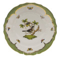 Herend Rothschild Bird Borders Green Dinner Plate No.1 10.5 in RO-EV-01524-0-01