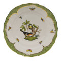 Herend Rothschild Bird Borders Green Dinner Plate No.2 10.5 in RO-EV-01524-0-02