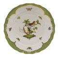 Herend Rothschild Bird Borders Green Dinner Plate No.3 10.5 in RO-EV-01524-0-03