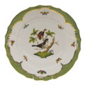Herend Rothschild Bird Borders Green Dinner Plate No.4 10.5 in RO-EV-01524-0-04