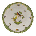 Herend Rothschild Bird Borders Green Dinner Plate No.6 10.5 in RO-EV-01524-0-06