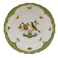 Herend Rothschild Bird Borders Green Dinner Plate No.7 10.5 in RO-EV-01524-0-07