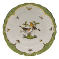 Herend Rothschild Bird Borders Green Dinner Plate No.9 10.5 in RO-EV-01524-0-09