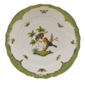 Herend Rothschild Bird Borders Green Dinner Plate No.10 10.5 in RO-EV-01524-0-10