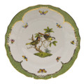 Herend Rothschild Bird Borders Green Dinner Plate No.11 10.5 in RO-EV-01524-0-11