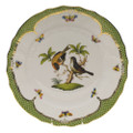 Herend Rothschild Bird Borders Green Dinner Plate No.12 10.5 in RO-EV-01524-0-12