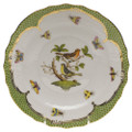 Herend Rothschild Bird Borders Green Salad Plate No.3 7.5 in RO-EV-01518-0-03