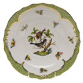 Herend Rothschild Bird Borders Green Salad Plate No.4 7.5 in RO-EV-01518-0-04