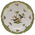 Herend Rothschild Bird Borders Green Salad Plate No.5 7.5 in RO-EV-01518-0-05