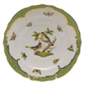 Herend Rothschild Bird Borders Green Salad Plate No.8 7.5 in RO-EV-01518-0-08