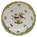 Herend Rothschild Bird Borders Green Salad Plate No.9 7.5 in RO-EV-01518-0-09
