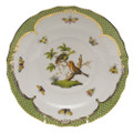 Herend Rothschild Bird Borders Green Salad Plate No.10 7.5 in RO-EV-01518-0-10