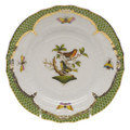 Herend Rothschild Bird Borders Green Bread and Butter Plate No.3 6 in RO-EV-01515-0-03