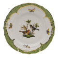 Herend Rothschild Bird Borders Green Bread and Butter Plate No.5 6 in RO-EV-01515-0-05
