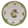 Herend Rothschild Bird Borders Green Bread and Butter Plate No.6 6 in RO-EV-01515-0-06