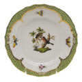 Herend Rothschild Bird Borders Green Bread and Butter Plate No.10 6 in RO-EV-01515-0-10