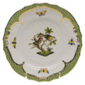 Herend Rothschild Bird Borders Green Bread and Butter Plate No.11 6 in RO-EV-01515-0-11