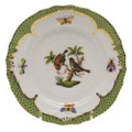 Herend Rothschild Bird Borders Green Bread and Butter Plate No.12 6 in RO-EV-01515-0-12