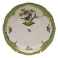 Herend Rothschild Bird Borders Green Tea Saucer No.1 6 in RO-EV-00734-1-01