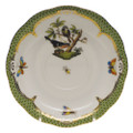 Herend Rothschild Bird Borders Green Tea Saucer No.2 6 in RO-EV-00734-1-02