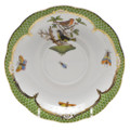 Herend Rothschild Bird Borders Green Tea Saucer No.3 6 in RO-EV-00734-1-03